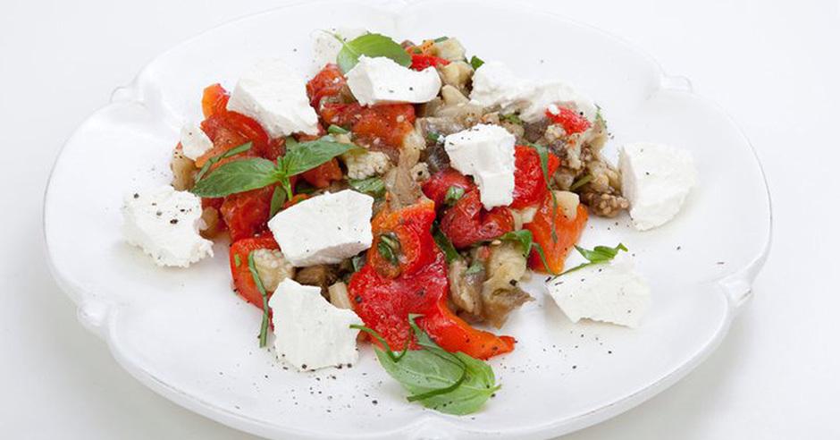 Рецепт и фото печеные овощи с рикоттой